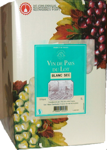 Domaine Quattre Blanc Sec IGP Cotes du Lot - Bag in Box 5L