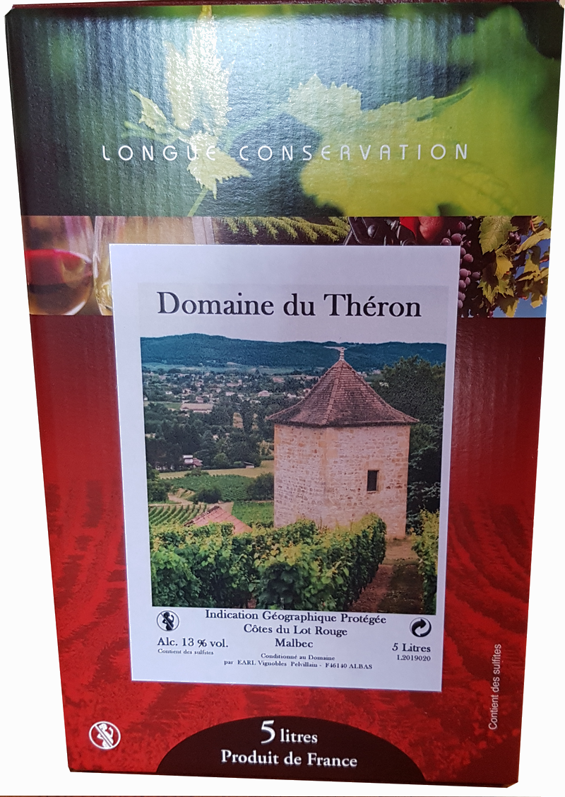 Domaine du Théron-IGP Côtes du Lot Rouge-Bag in Box 5L